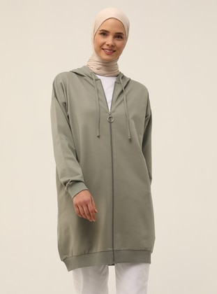 Zippered Sports Cape - Thyme - Basic