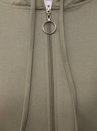 Zippered Sports Cape - Thyme - Basic