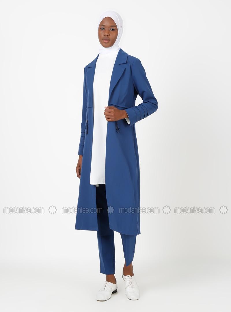 Unlined - Indigo - Shawl Collar - Evening Suit