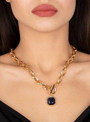 Navy Blue - Necklace