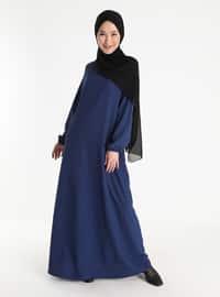 Hidden Pocket Dress - Indigo
