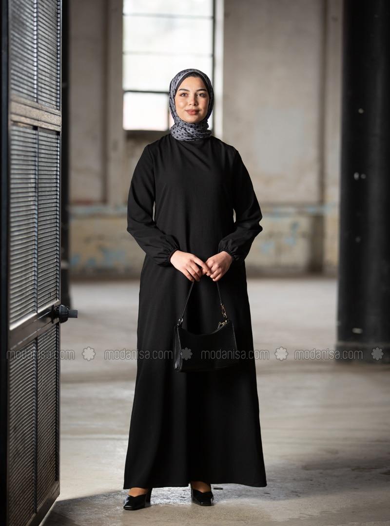 Hidden Pocket Dress - Black