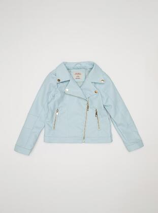 Blue - Girls` Jacket - DeFacto
