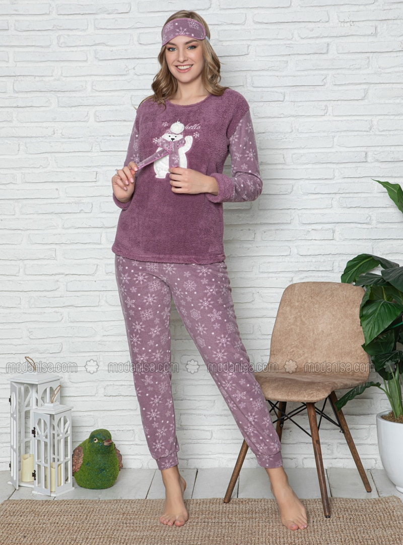 Lilac - Crew neck - Multi - Pyjama Set