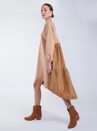 Camel - Unlined - Dress