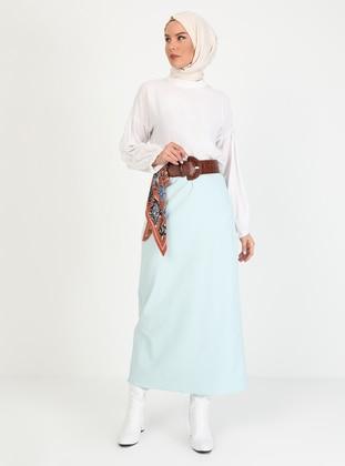 Sea-green - Unlined - Skirt