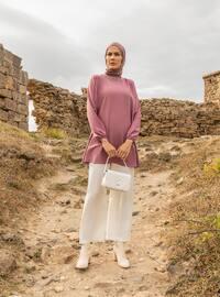 Basic Fabric Pants - White - Woman