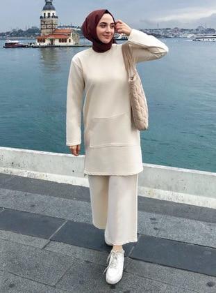 Cream - Unlined - Suit