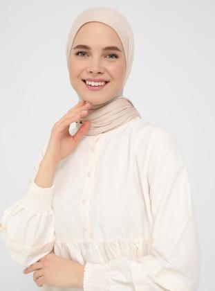 Cream - Button Collar - Tunic