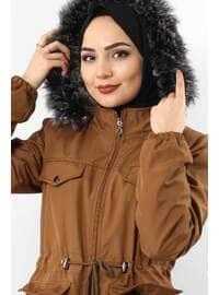 Tan - Puffer Jackets