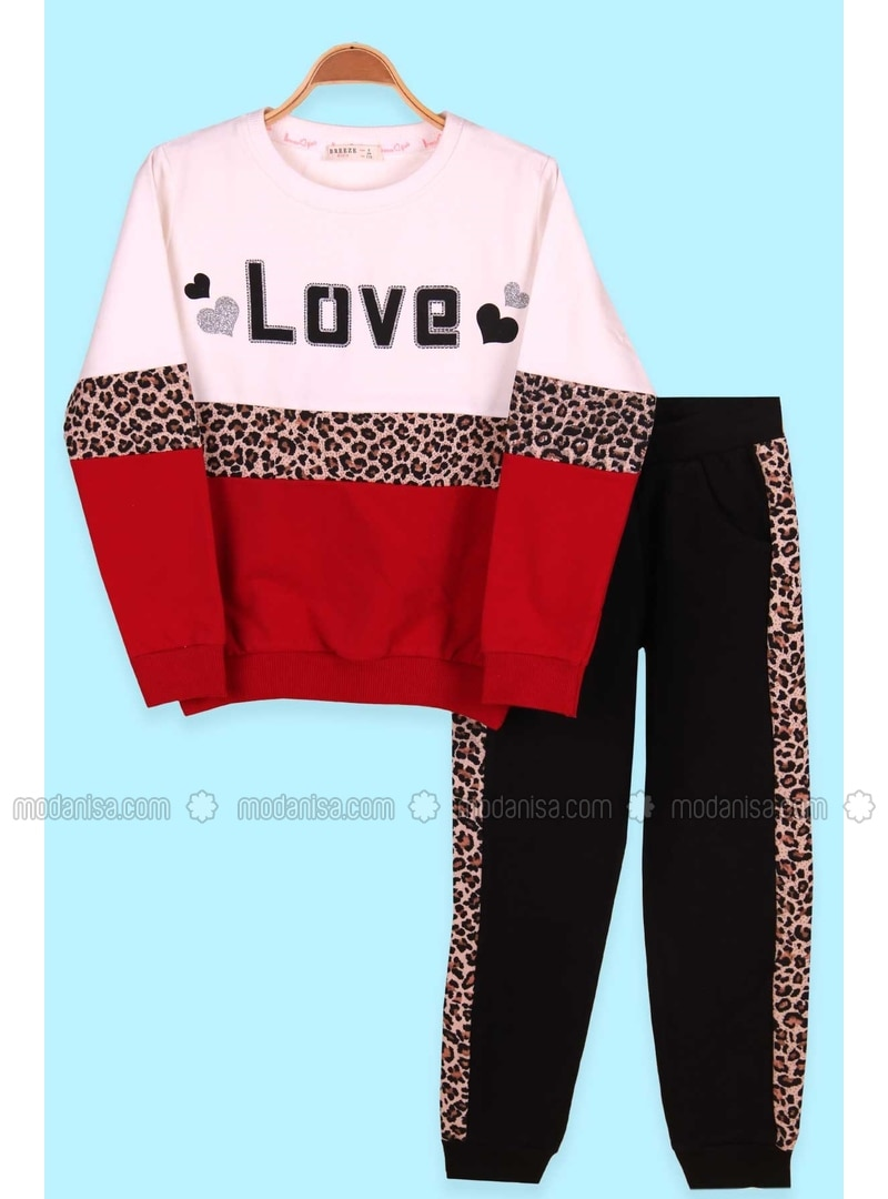 Red - Girls` Tracksuit