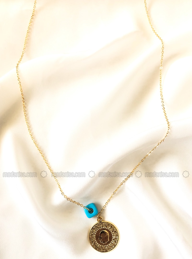 Gold - Blue - Necklace