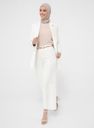 White - Pants - Refka