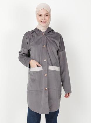 Gray - Unlined - Jacket