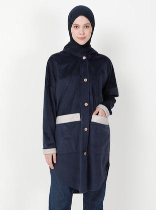 Navy Blue - Unlined - Jacket
