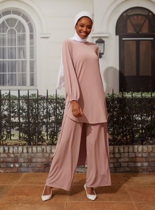 Sandy Basic Trousers - Dark Dusty Rose - Woman