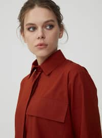 Cinnamon - Point Collar - Unlined - Dress