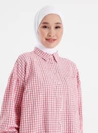 Cherry - Checkered - Point Collar - Tunic