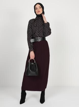 Purple - Fully Lined - Skirt