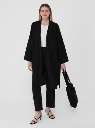 Black - Shawl Collar - Unlined - Plus Size Suit - Alia
