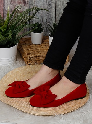 Flat - Red - Home Shoes