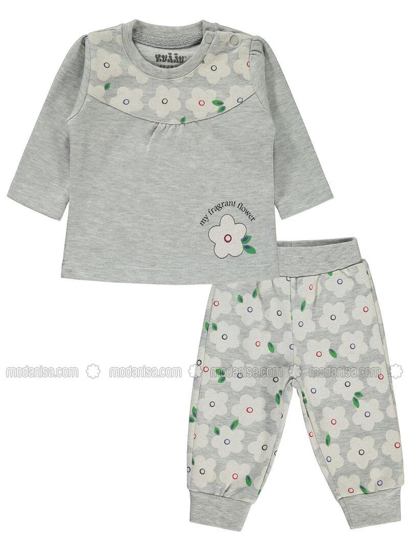 Gray - Baby Suit
