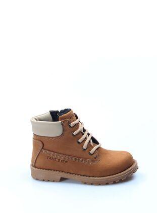 Tan - Boys` Boots - Fast Step