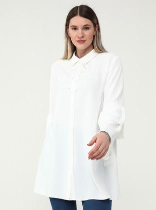 Oversize Spanish Sleeved Tunic - Ecru