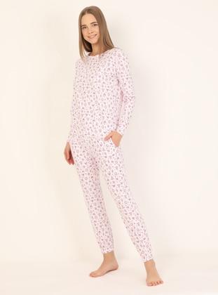 Multi - Crew neck - Pyjama Set