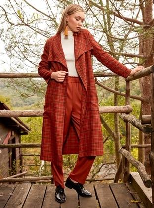 Terra Cotta - Plaid - Unlined - Suit