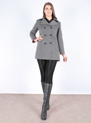 Multi - Houndstooth - Fully Lined - Shawl Collar - Coat