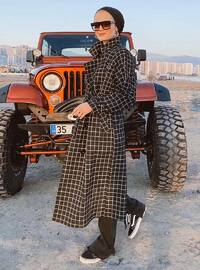 Multi - Plaid - Fully Lined - Point Collar - Trench Coat