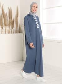 İndigo - Mavi - Astarsız - Elbise