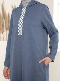 Indigo - Blue - Unlined - Modest Dress