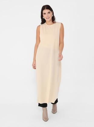 Nude - Unlined - Crew neck - Plus Size Dress