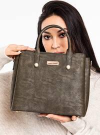 Khaki - Satchel - Shoulder Bags