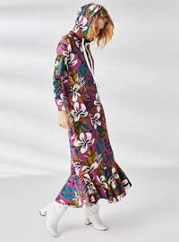 Purple - Printed - Multi - Unlined - Dress