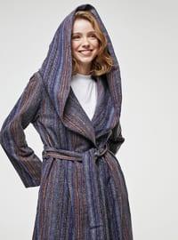 Blue - Multi - Unlined - Coat