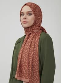 Brown - Printed - Shawl