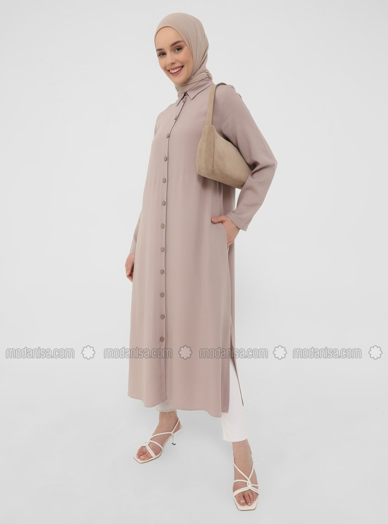 Mink - Point Collar - Tunic - Casual
