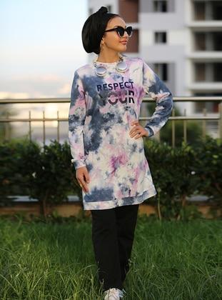 Crew neck - Purple - Sweat-shirt