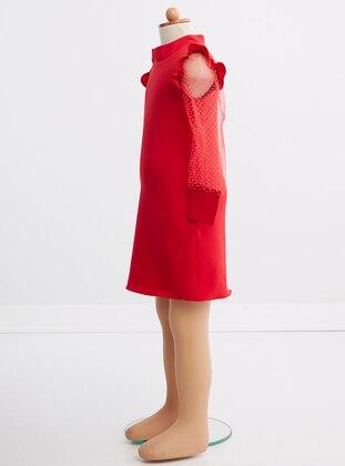 Unlined - Red - Girls` Dress