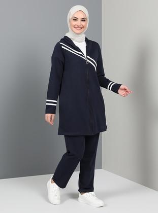 Navy Blue - Indigo - Unlined - Tracksuit Set