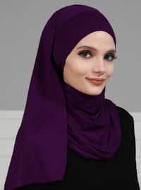 Purple - Plain - Instant Scarf