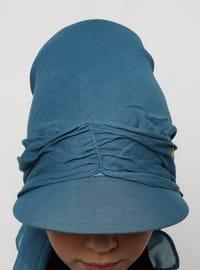 Indigo - Blue - Plain - Pinless - Instant Scarf