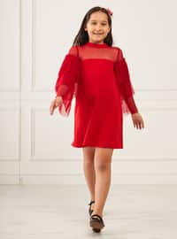Polo neck - Red - Girls` Dress