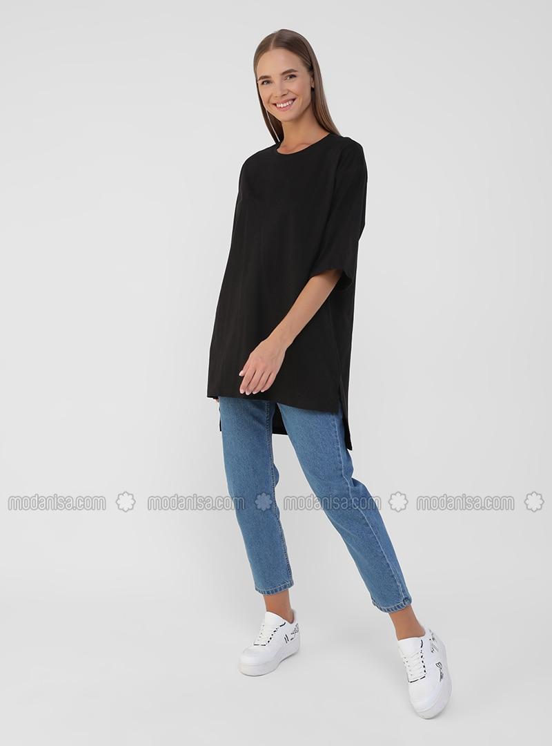 Black - Black - T-Shirt