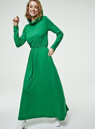 Green - Unlined - Dress