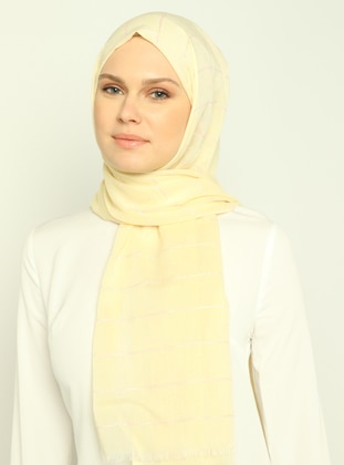 Powder - Yellow - Striped - Shawl