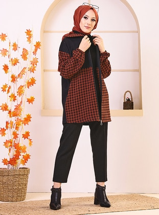 Terra Cotta - Houndstooth - Tunic